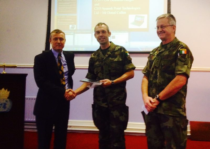 Spanish Point present awards to Defence Forces for IKON project