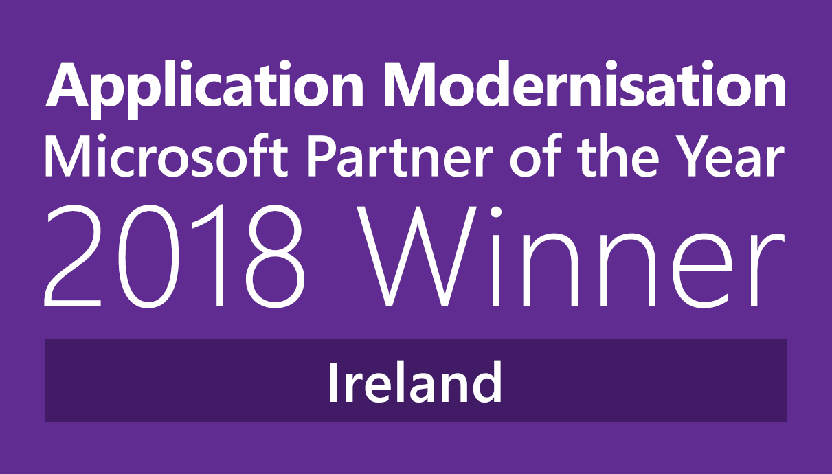 Application Modernisation Microsoft Partner of the Year 2018