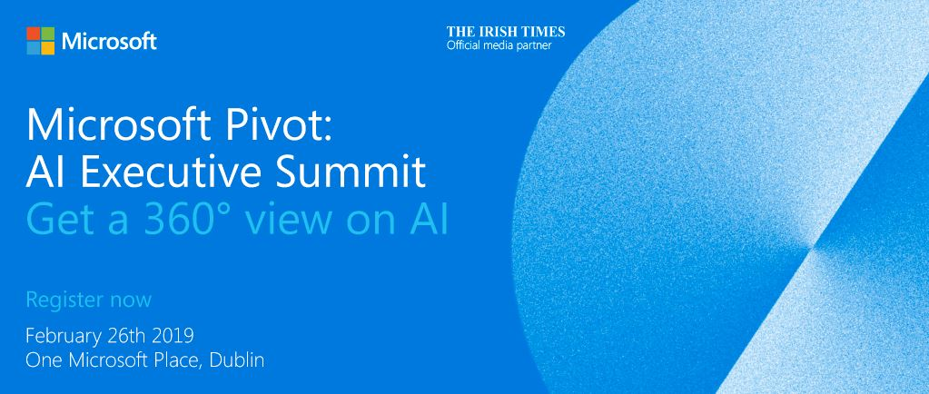 Spanish Point Official sponsor @ Microsoft Pivot: AI Executive Summit Feb 26th